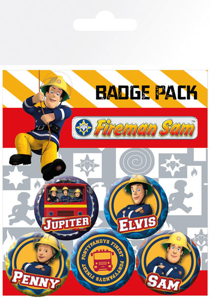 Paket značaka Sam le Pompier - Heroes