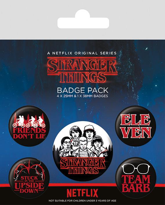 Paket značaka Stranger Things - Characters