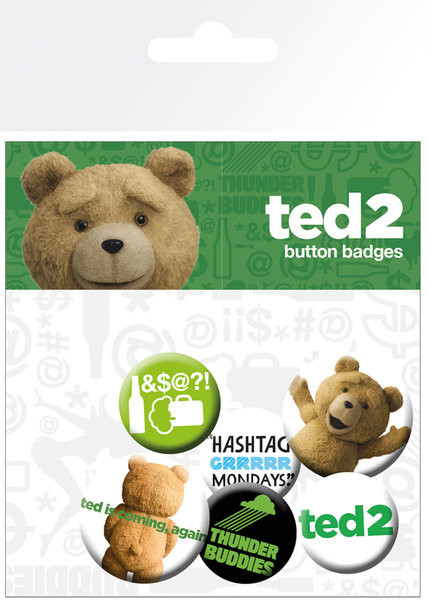 Paket značaka Ted 2 - Mix Clean