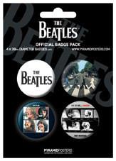 Paket značaka THE BEATLES - Black