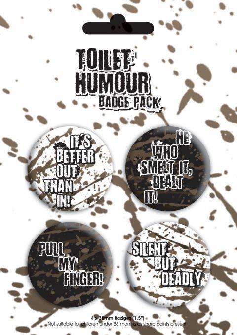Paket značaka TOILET HUMOUR