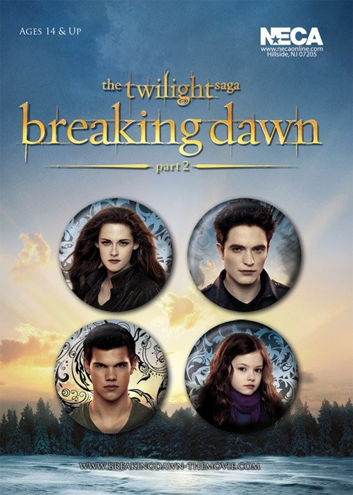 Paket značaka TWILIGHT BREAKING DAWN 2