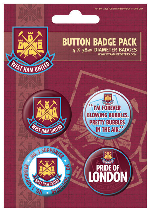 Paket značaka WEST HAM UNITED - No.1 support