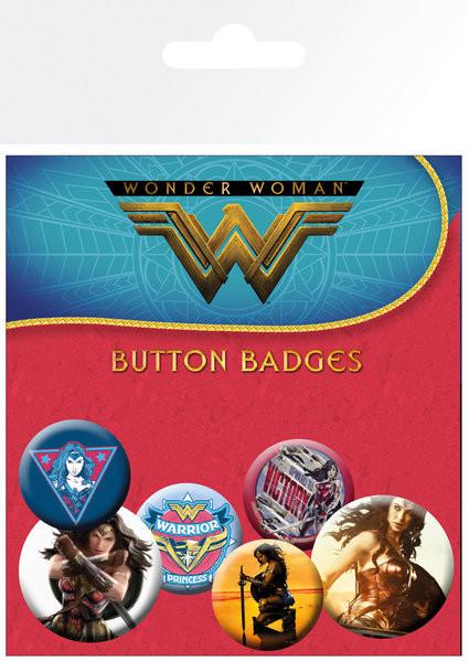 Paket značaka Wonder Woman - Mix