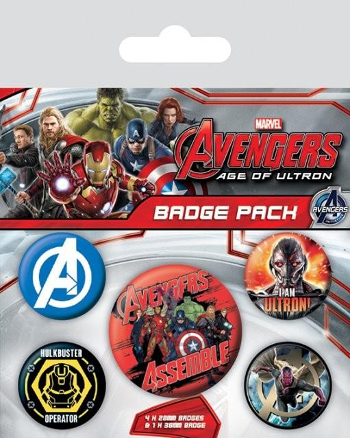 Paket značk Avengers 2: Vek Ultrona