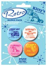 Paket značk D AND G - Retro