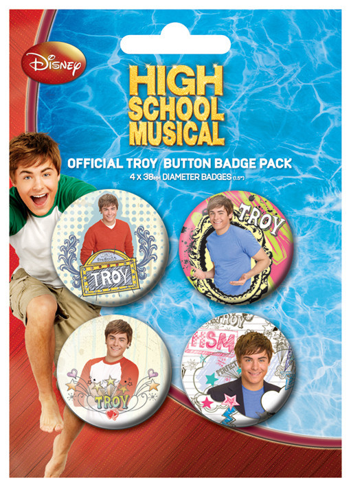 Paket značk HIGH SCHOOL MUSICAL - Troy