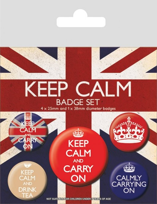 Paket značk Keep Calm and Carry On
