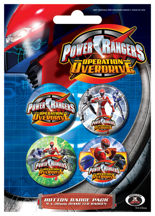 Paket značk POWER RANGERS - Colours