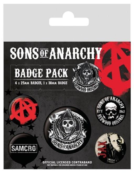 Paket značk Sons of Anarchy (Zákon gangu)