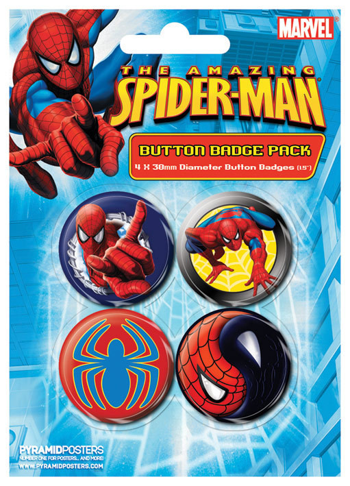 Paket značk SPIDER-MAN - wall crawler