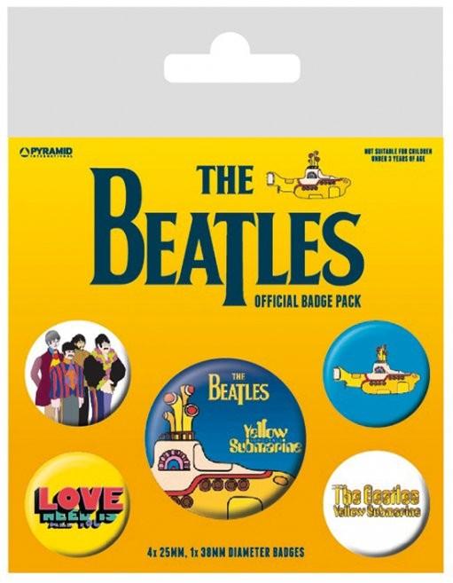Paket značk The Beatles - Yellow Submarine