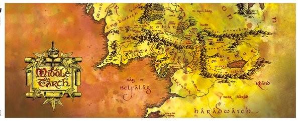 Hrnek Pán Prstenů - Map