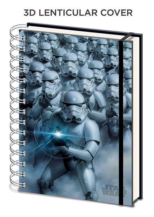 Star Wars - Stormtroopers 3D lenticular A5 Notebook Papelería