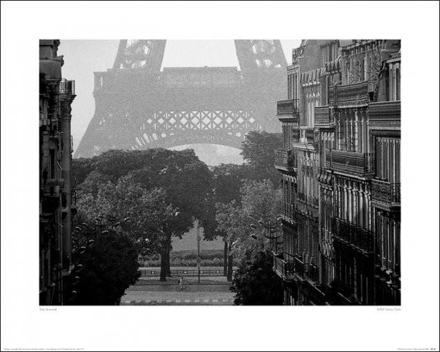 Párizs - Eiffel-torony, Pete Seaward Festmény reprodukció