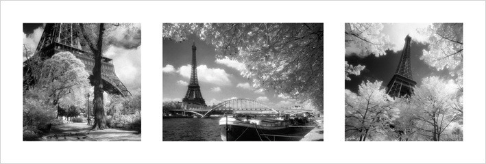 Párizs - Triptych Festmény reprodukció