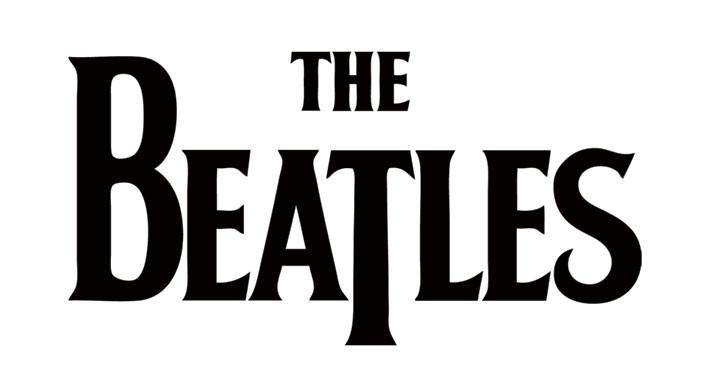 BEATLES - black logo pegatina | Compra en EuroPosters.es