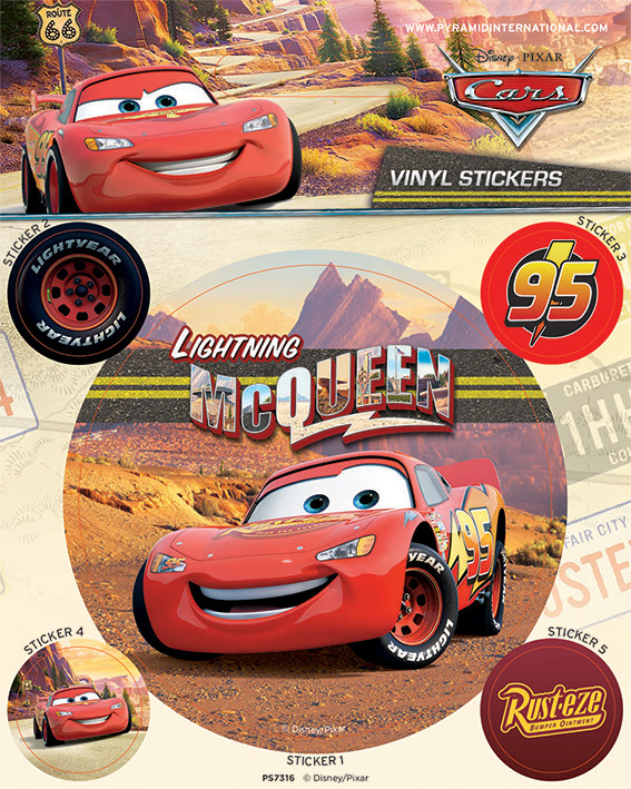 cars lightning mcqueen pegatina compra en. Black Bedroom Furniture Sets. Home Design Ideas