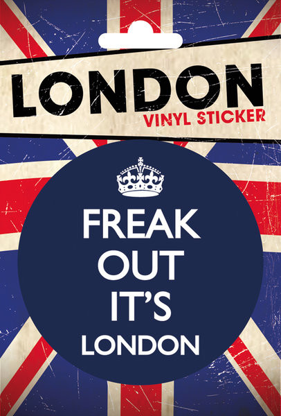 LONDON - freak out pegatina