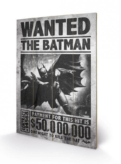 Batman Arkham Origins - Wanted Pictură pe lemn