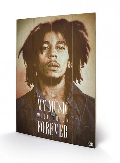 Bob Marley - Music Forever Pictură pe lemn