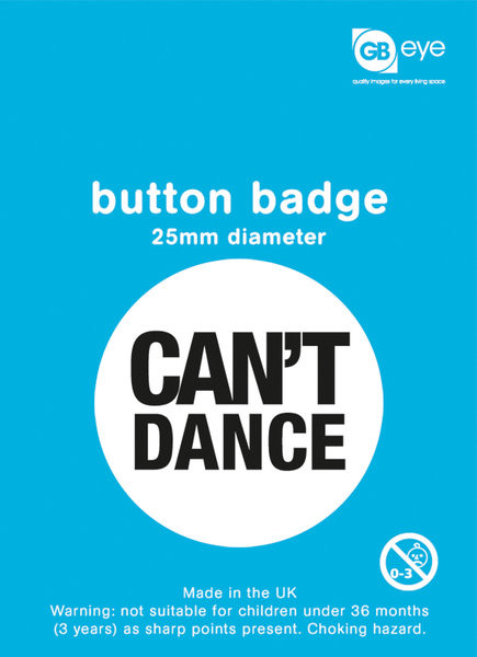 Can't Dance - pin