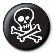 Pin - Skull & Crossbones (B&W)