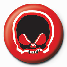 Pin - SKULL (RED)