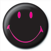 Pin - SMILEY - black