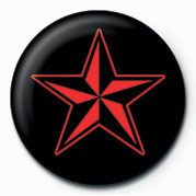 Pin -  STAR (RED & BLACK)