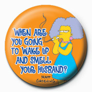 Pin - THE SIMPSONS - selma wake up