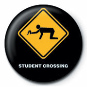 WARNING SIGN - STUDENT CRO - pin