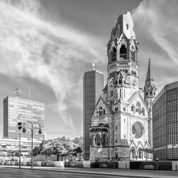 Cuadros en Lienzo BERLIN Kaiser Wilhelm Memorial Church | Monochrome