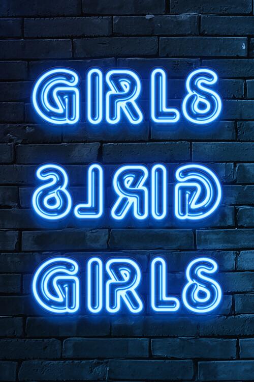 Cuadros en Lienzo GIRLS GIRLS GIRLS