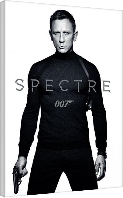 Cuadros en Lienzo James Bond: Spectre - Black and White Teaser
