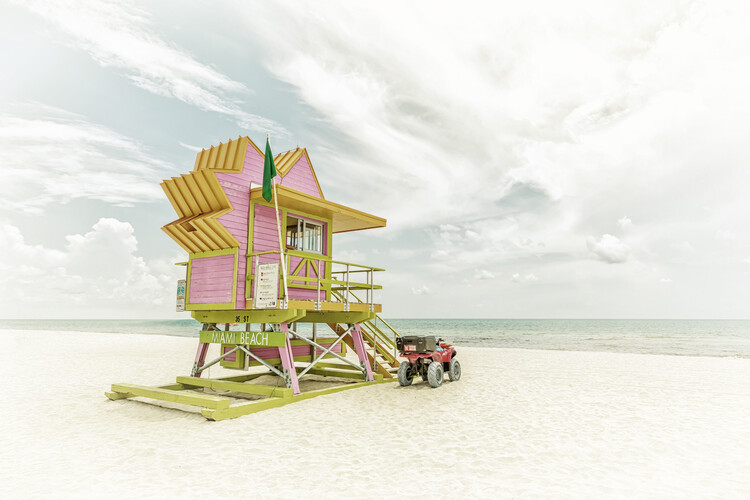 Cuadros en Lienzo MIAMI BEACH Vintage Florida Flair