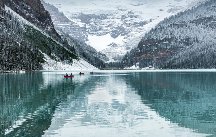 Cuadros en Lienzo Peaceful Lake Louise