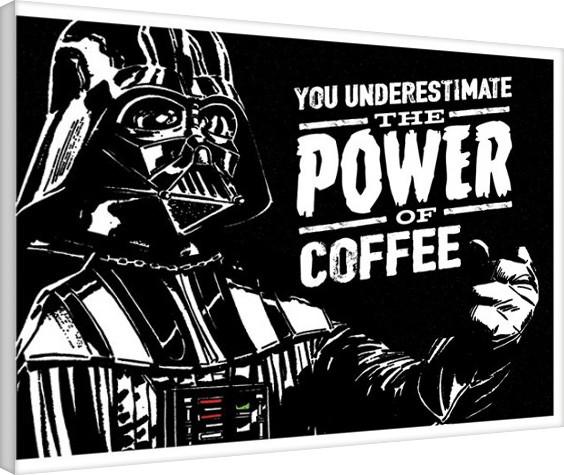 Cuadros en Lienzo Star Wars - The Power Of Coffe