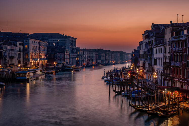 Cuadros en Lienzo Venice Grand Canal at Sunset