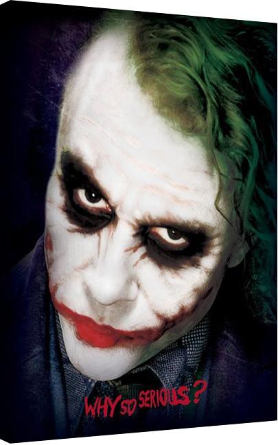 Pinturas sobre lienzo  Batman: El caballero oscuro - Joker Face