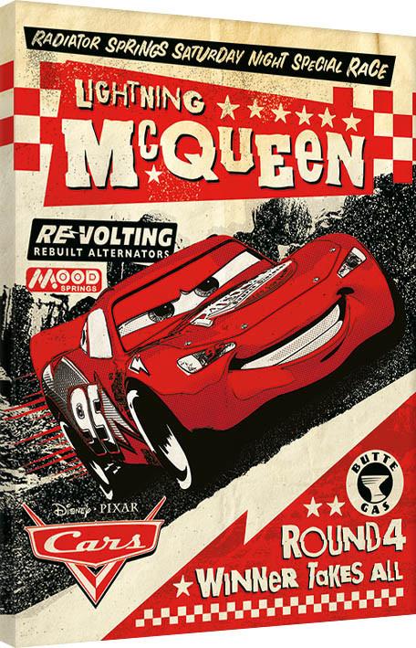 Cuadros en Lienzo Cars - Lightning Mcqueen Race