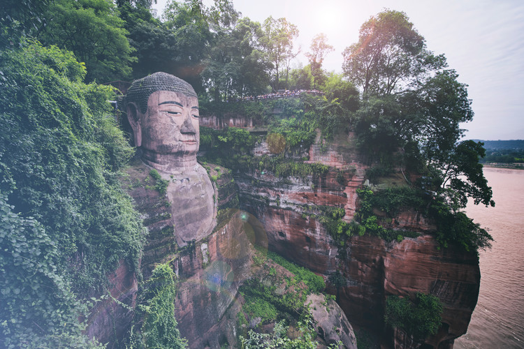Cuadros en Lienzo China 10MKm2 Collection - Giant Buddha of Leshan