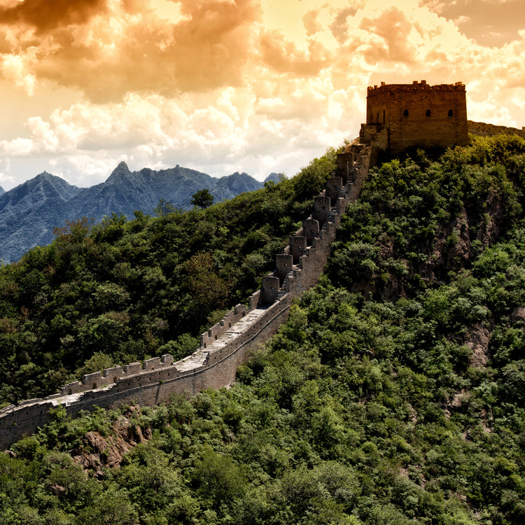 Cuadros en Lienzo China 10MKm2 Collection - Great Wall of China at Sunset