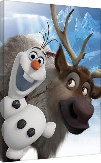 Pinturas sobre lienzo Frozen, el reino del hielo - Olaf & Sven