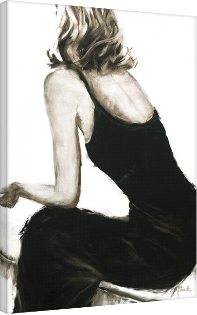 Pinturas sobre lienzo Janel Eleftherakis - Little Black Dress II