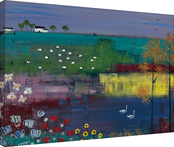 Pinturas sobre lienzo Lee McCarthy - Swan Lake