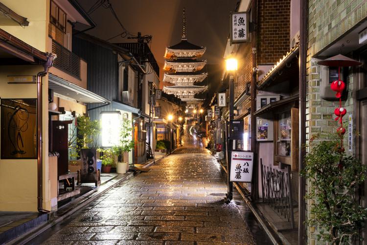 Cuadros en Lienzo Old Street of Kyoto