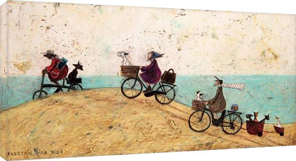 Pinturas sobre lienzo  Sam Toft - Electric Bike Ride