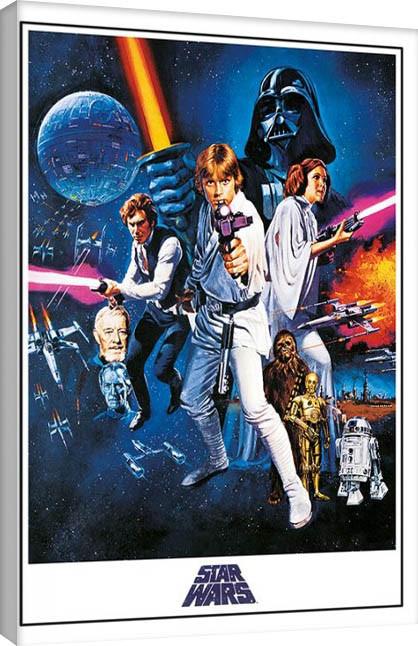 Pinturas sobre lienzo  Star Wars Episode IV - A New Hope