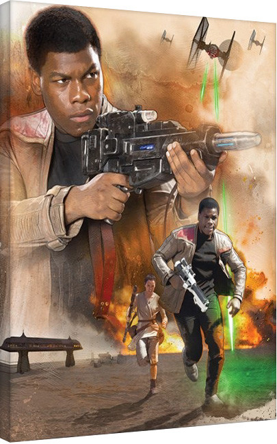 Pinturas sobre lienzo Star Wars Episode VII: The Force Awakens - Finn Art